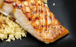 Halibut with couscous cropped
