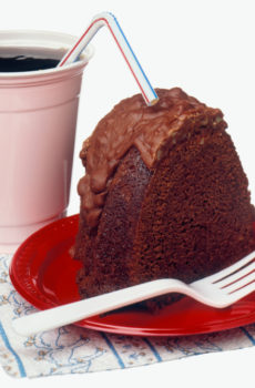 cake and soft drink