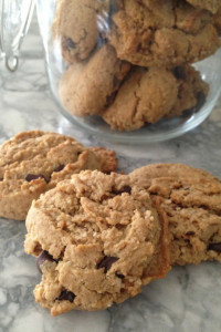 Almond Butter Choc Chip Cookie