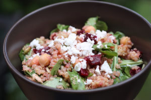 quinoa beets and bean bowl
