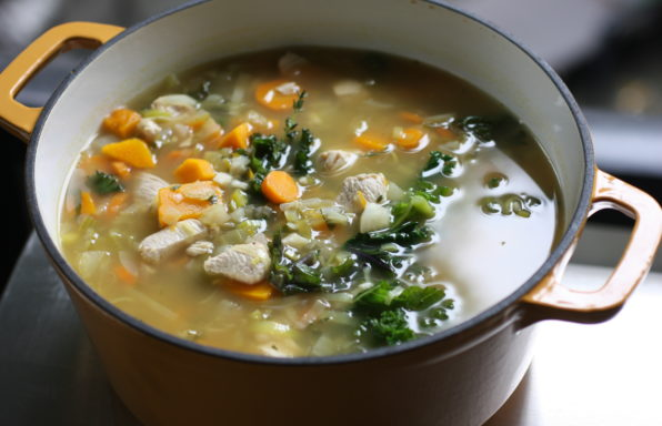 Chicken Soup with Leeks