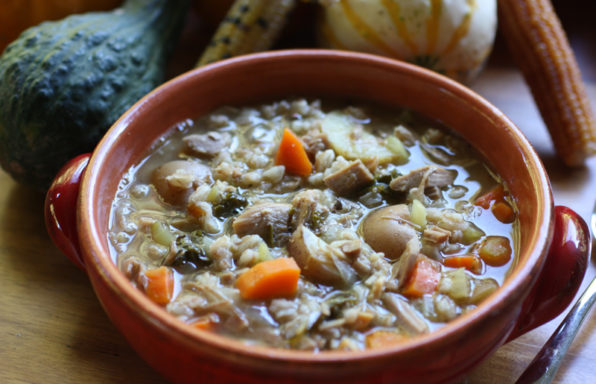 Turkey soup with Farro Resized